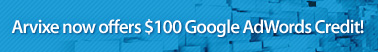 Arvixe now offers $100 Google AdWords Credit!