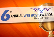 6th Annual Web Hosting Awards - Best of 2011