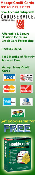 Accept Credit Cards for Your Business from Cardservice International and Get Free Bookkeeper 2007