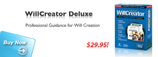 Buy WillCreator Deluxe: Professional Guidance for Will Creation.